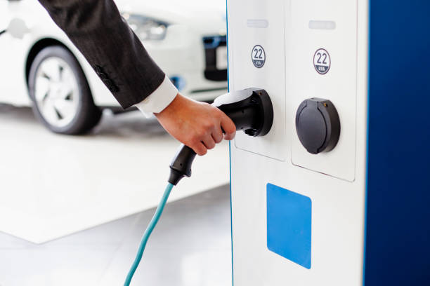 Electric Vehicle Charging Station. stock photo