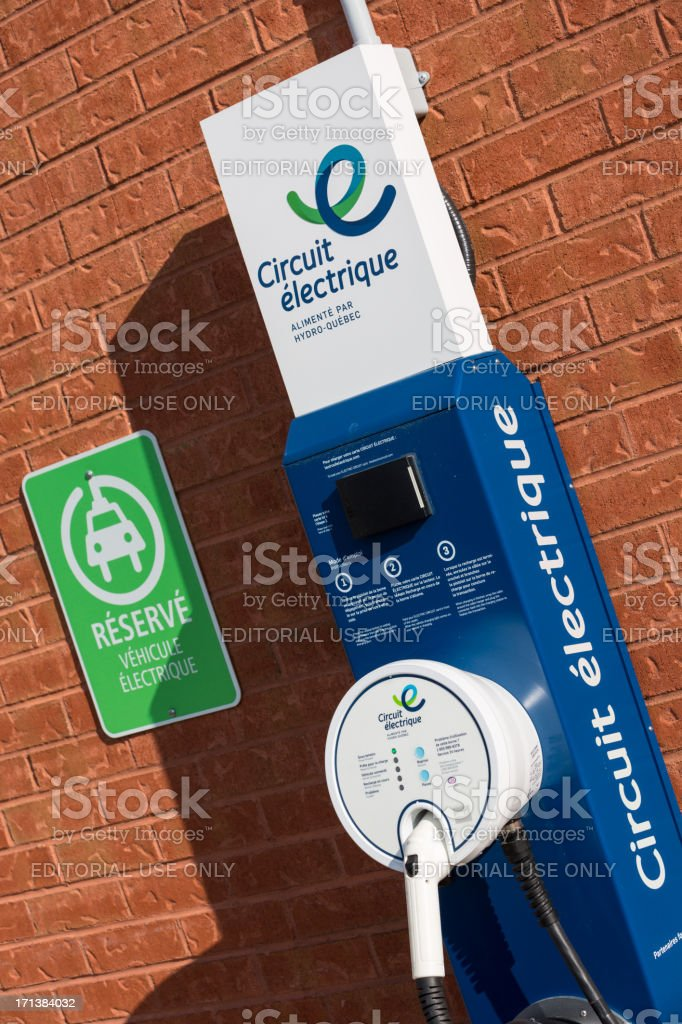 Electric Vehicle Charging Station royalty-free stock photo