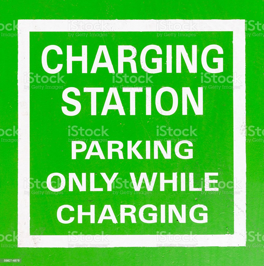 Electric Vehicle Charging Station sign foto royalty-free