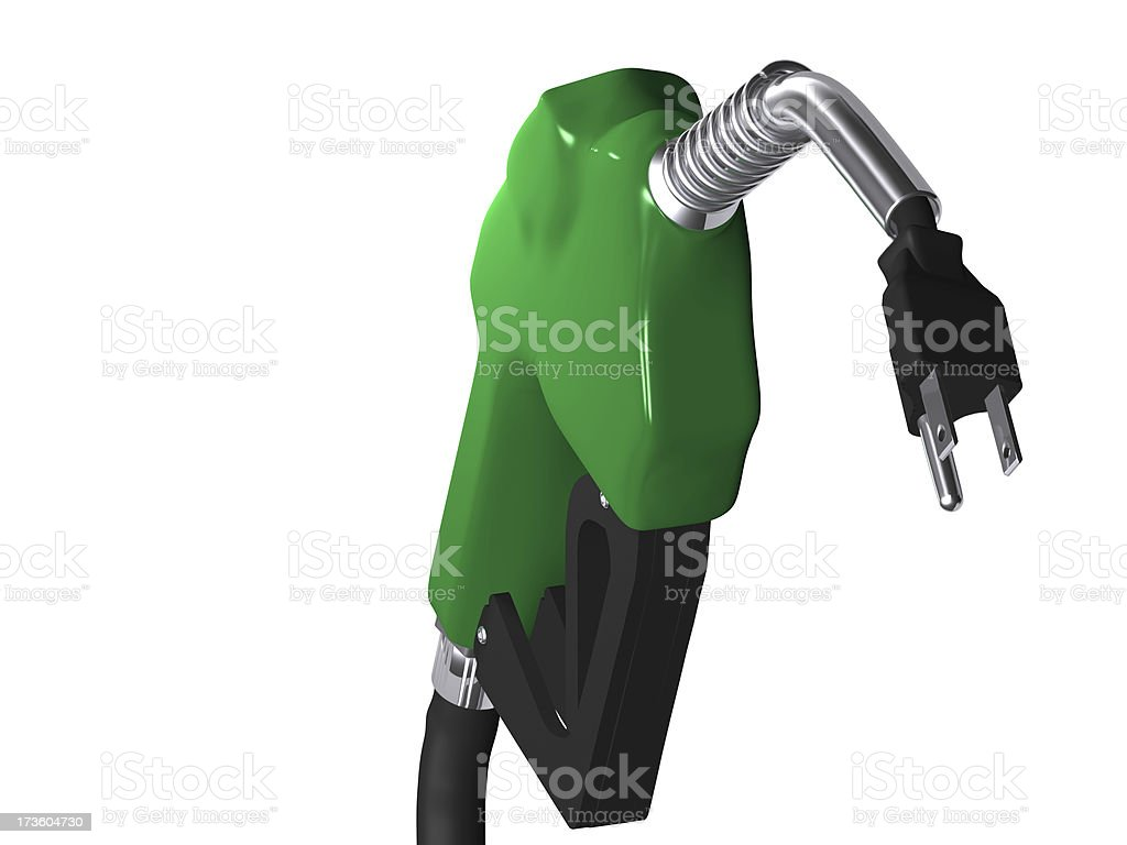 Electric Vehicle Gas royalty-free stock photo