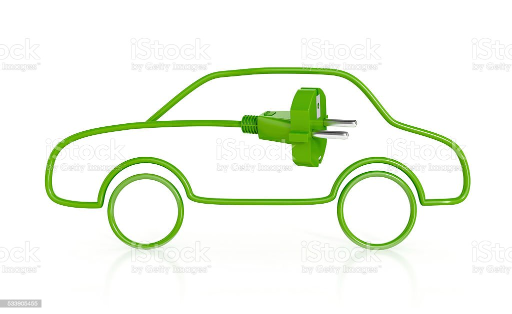 Electric Vehicle. Green Concept. stock photo