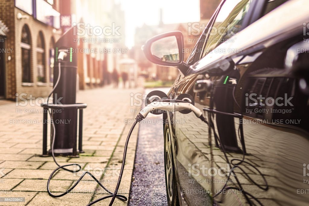 Electric Vehicle - foto stock