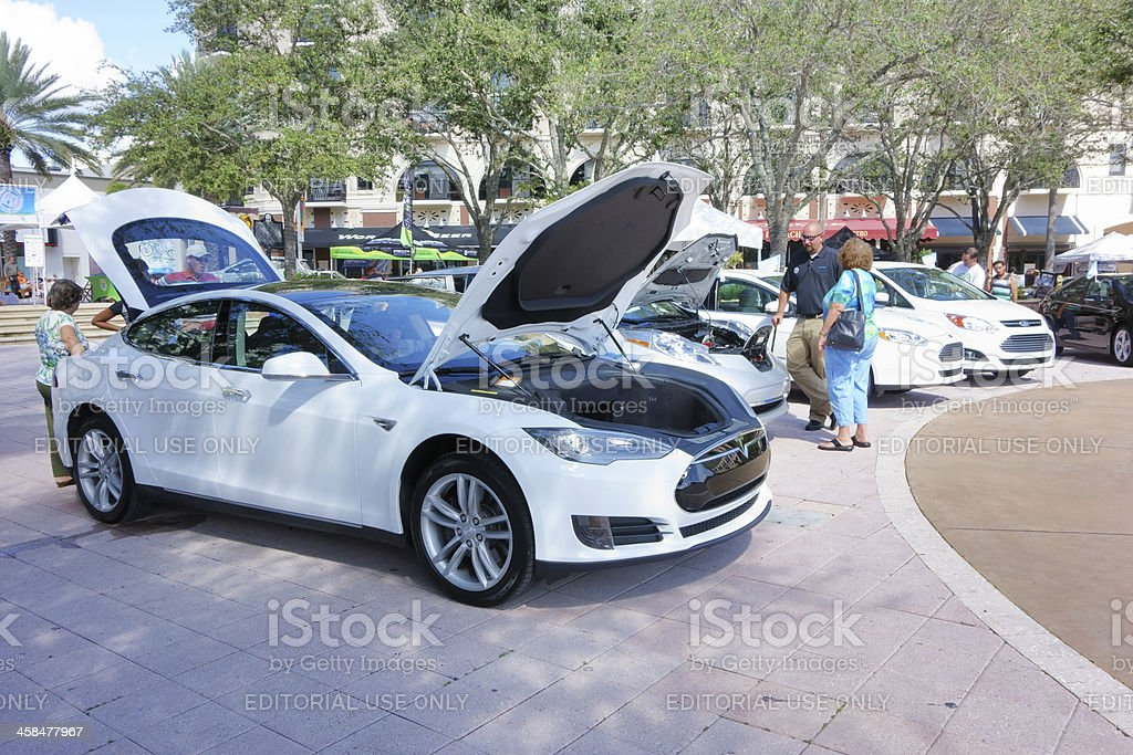 Electric Vehicles on National Plug In Day royalty-free stock photo