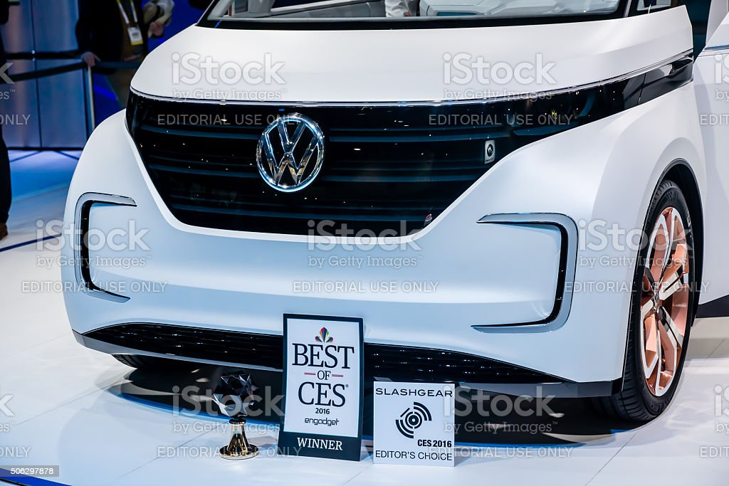 Electric VW Wagon stock photo