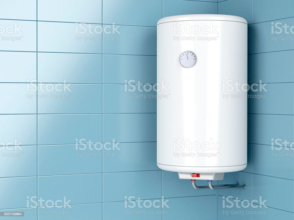 Electric water heater stock photo