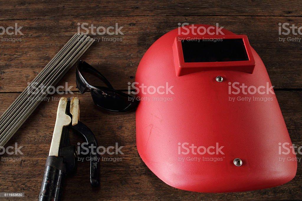 Electric welding stock photo