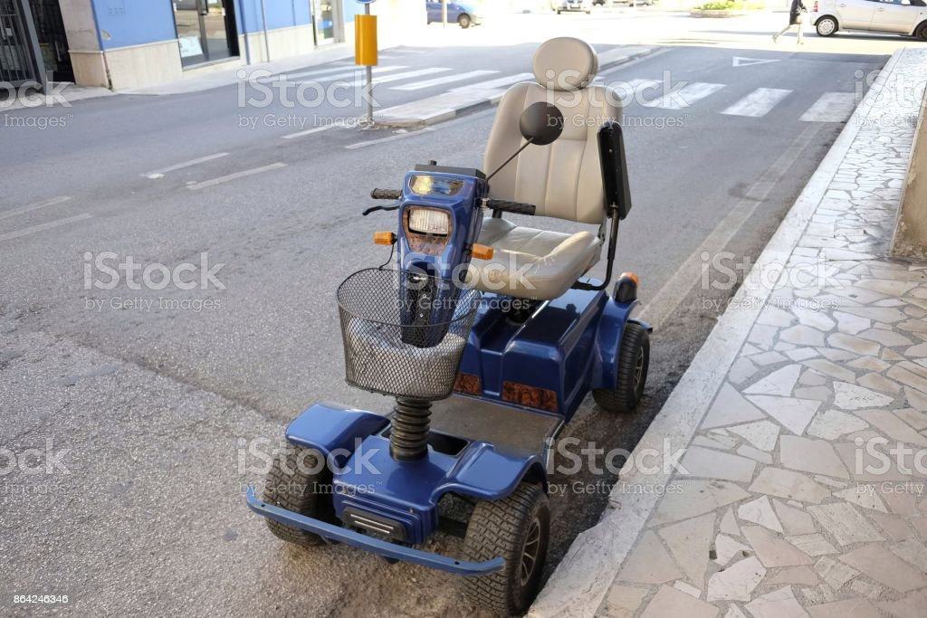 electric wheelchair royalty-free stock photo