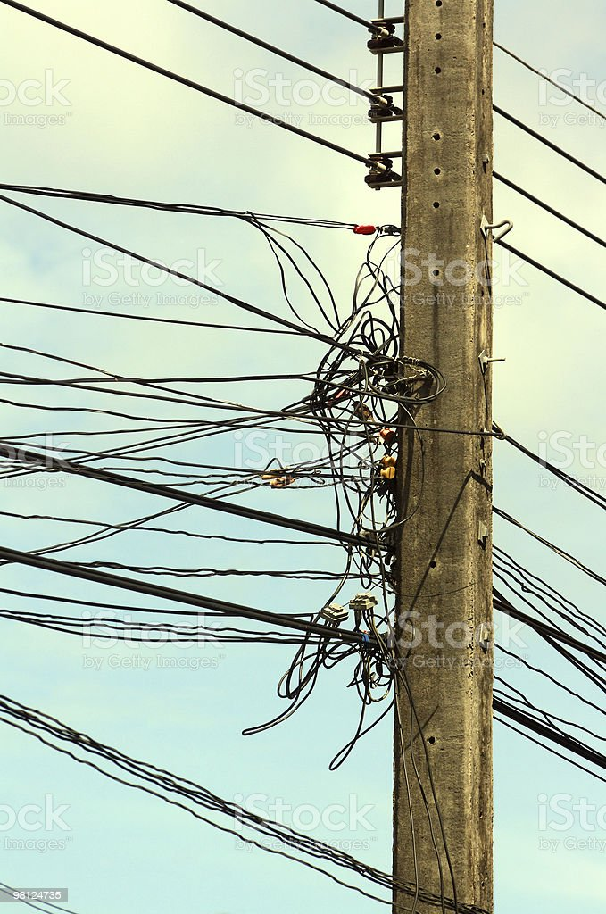 Electric wiring royalty-free stock photo