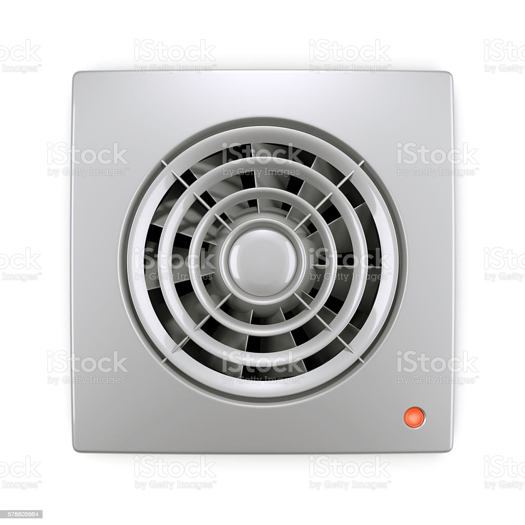 Electrical air ventilation fan grille stock photo