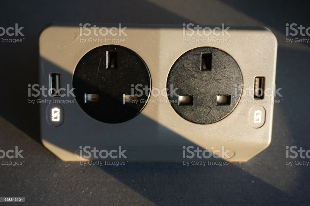 Electrical and USB Outlet stock photo