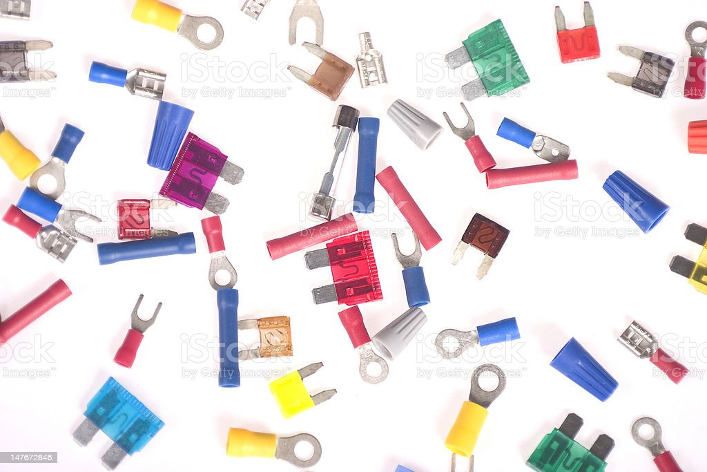 Electrical bits and pieces royalty-free stock photo