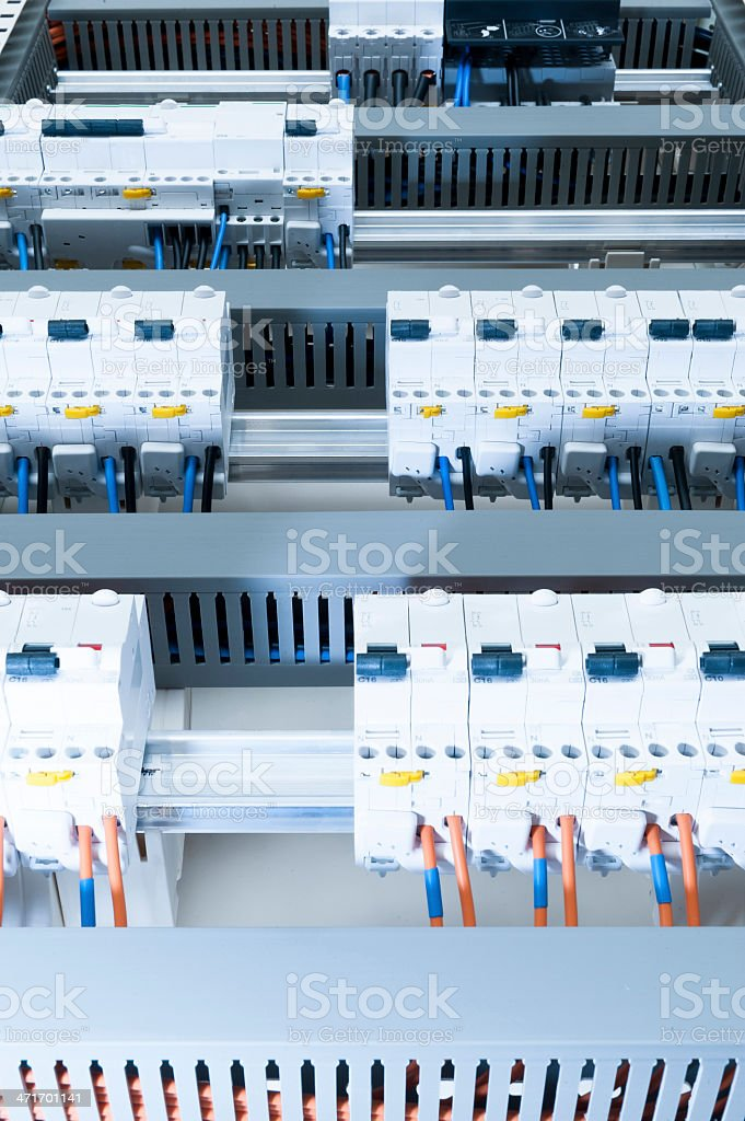 Electrical cabinet royalty-free stock photo