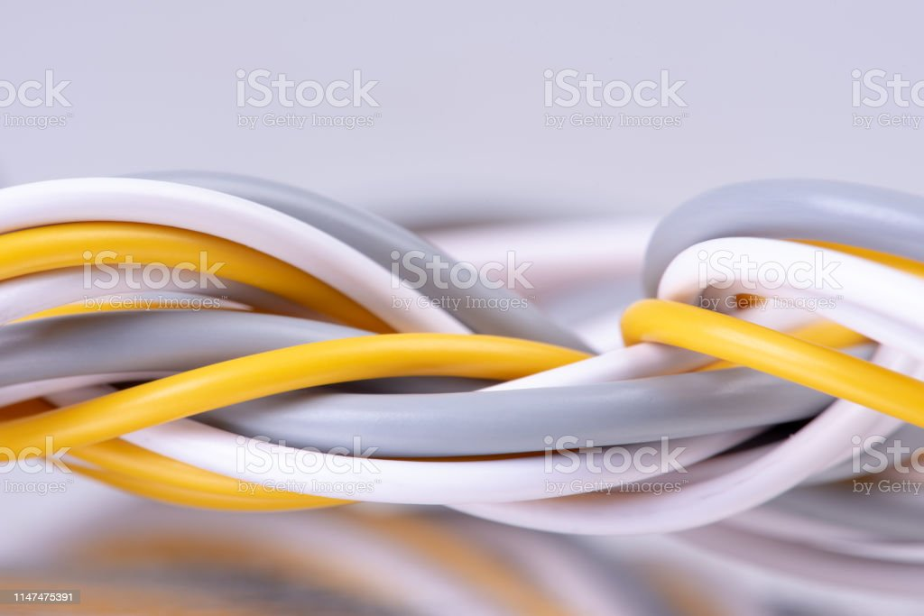 Electrical cable network energy technology close-up