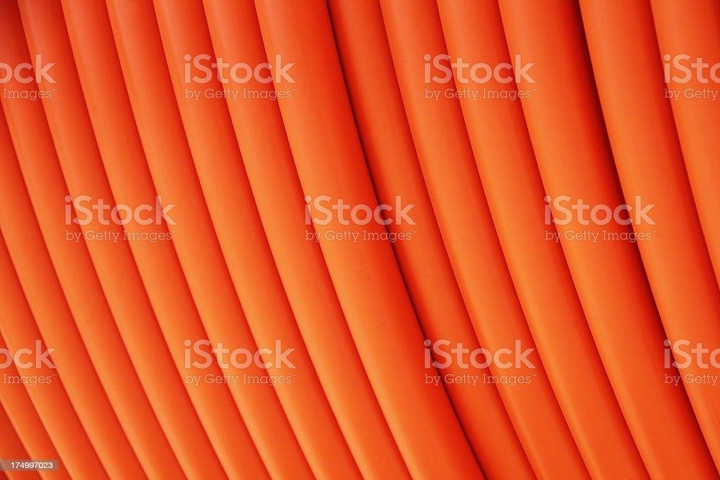 Electrical Cable Orange Sheathing stock photo