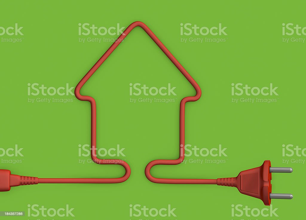 Electrical cable royalty-free stock photo
