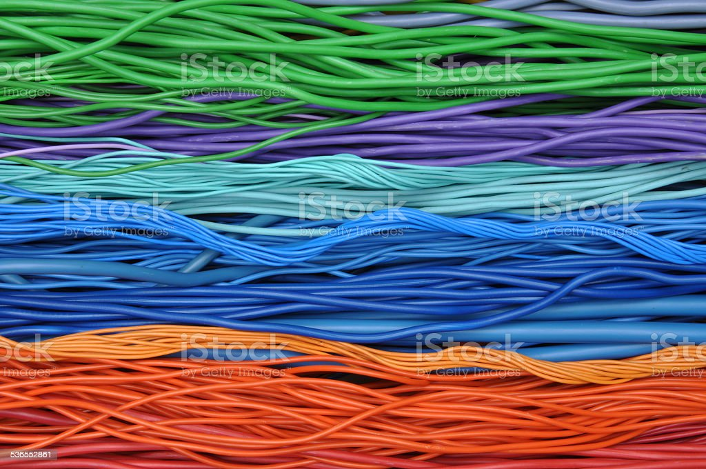 Electrical cables and wires stock photo
