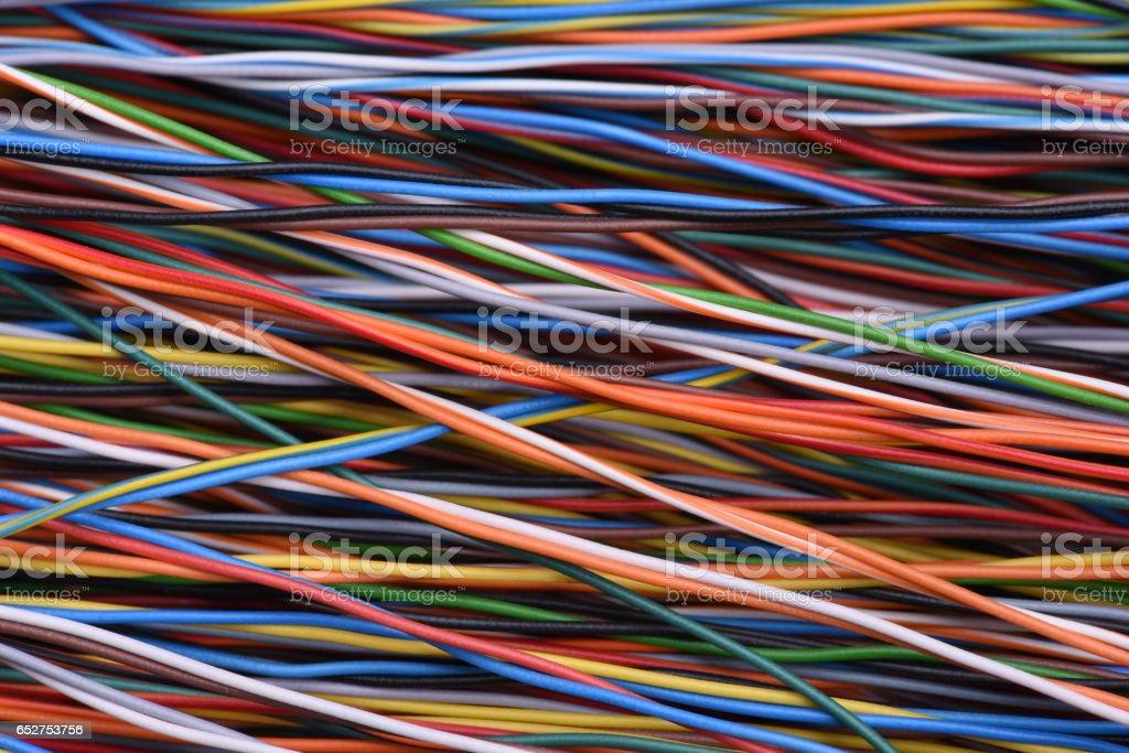 Alambres y Cables eléctricos - foto de stock