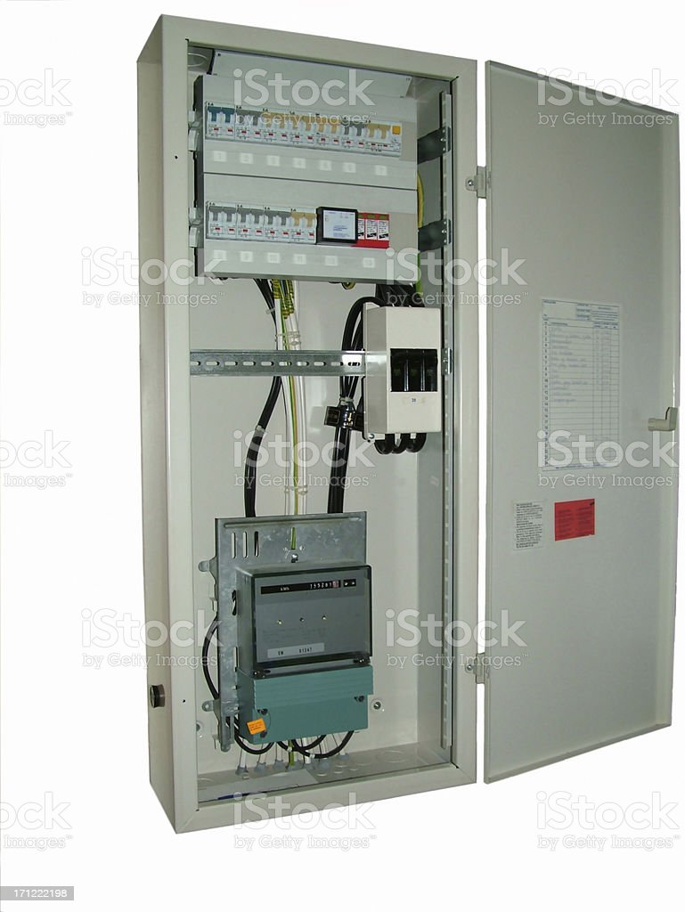Electrical Circuit Breaker Cabinet royalty-free stock photo