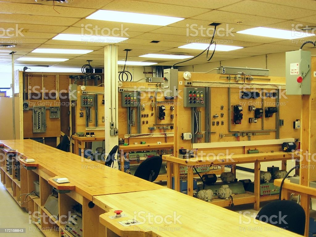 Electrical Classroom royalty-free stock photo