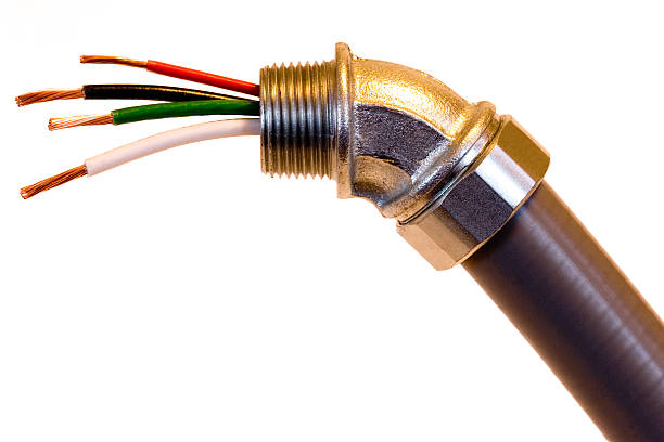 Electrical Conduit with Wires Electrical conduit with wires. canal stock pictures, royalty-free photos & images