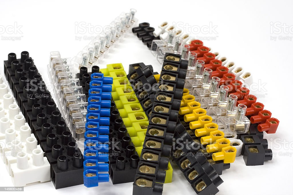 Electrical Connector Block royalty-free stock photo