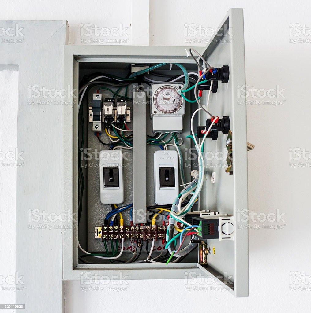 Electrical control box stock photo