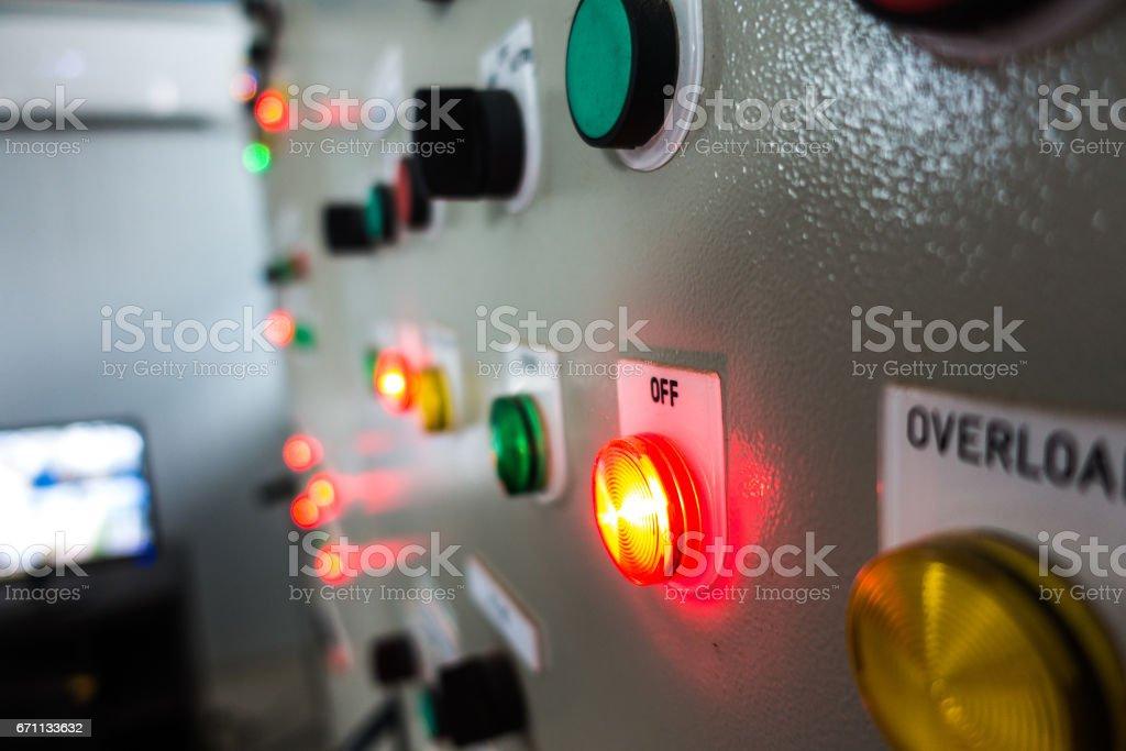 Electrical control cabinet - foto de stock