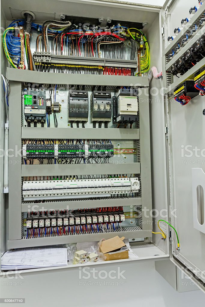 electrical control panel in distribution fuse box stock photo istock Electrical Fuse  Home Power Panel Box Chinese Electric Fuse Box Panel 60 Amp Fuse Panel