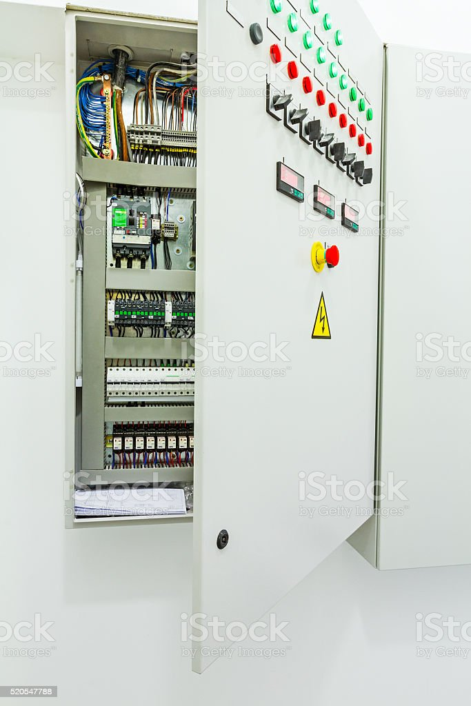 Electrical Control Panel In Distribution Fuse Box Stock Photo  U0026 More Pictures Of Activity