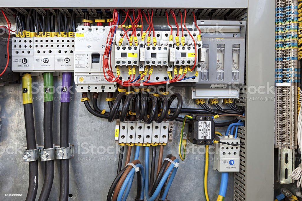 Electrical control panel - Royalty-free Cable Stock Photo
