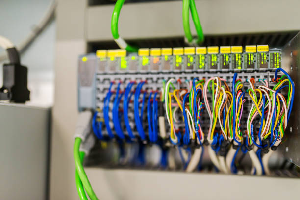 electrical control panel  stock photo