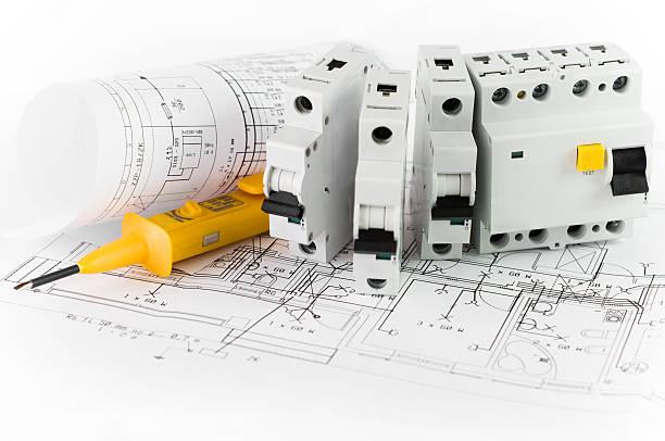 electrical devices - elektrische fitting stockfoto's en -beelden