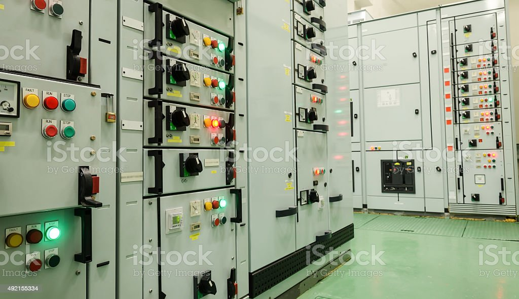 electrical energy substation stock photo