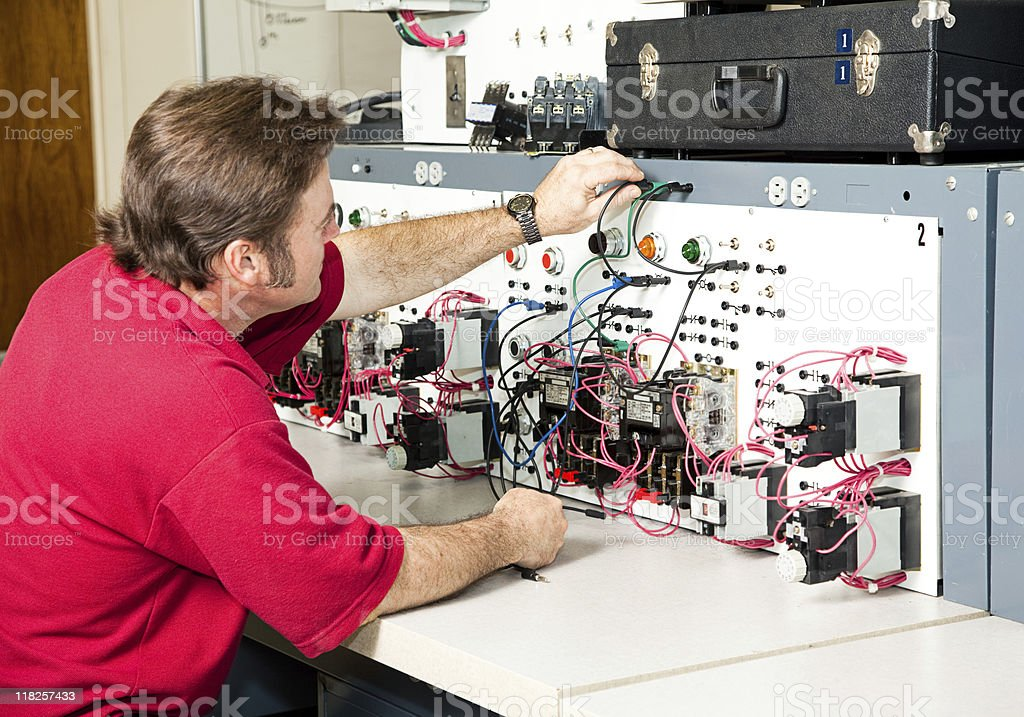 Electrical Engineering - Motor Control royalty-free stock photo