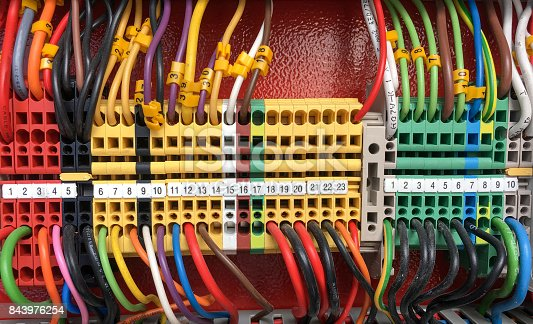 istock Electrical Equipment. Background and Texture 843976254