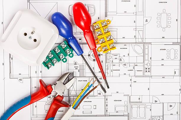 electrical equipment - elektrische fitting stockfoto's en -beelden