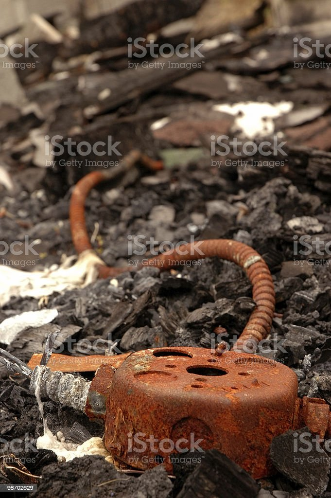 Electrical Fire royalty-free stock photo