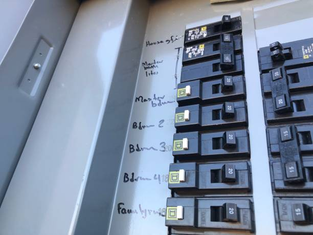electrical fuse box - control panel stock photos and pictures