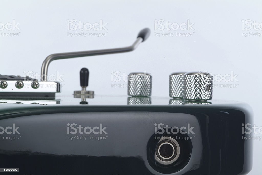 Electrical guitar - detail royalty-free stock photo