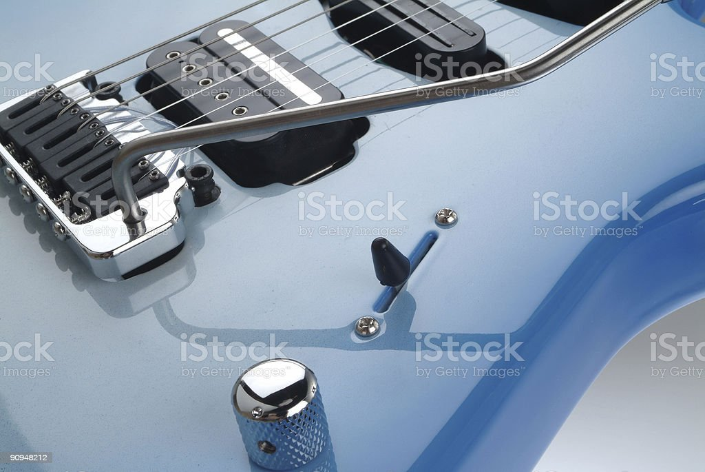 Electrical guitar - detail stock photo