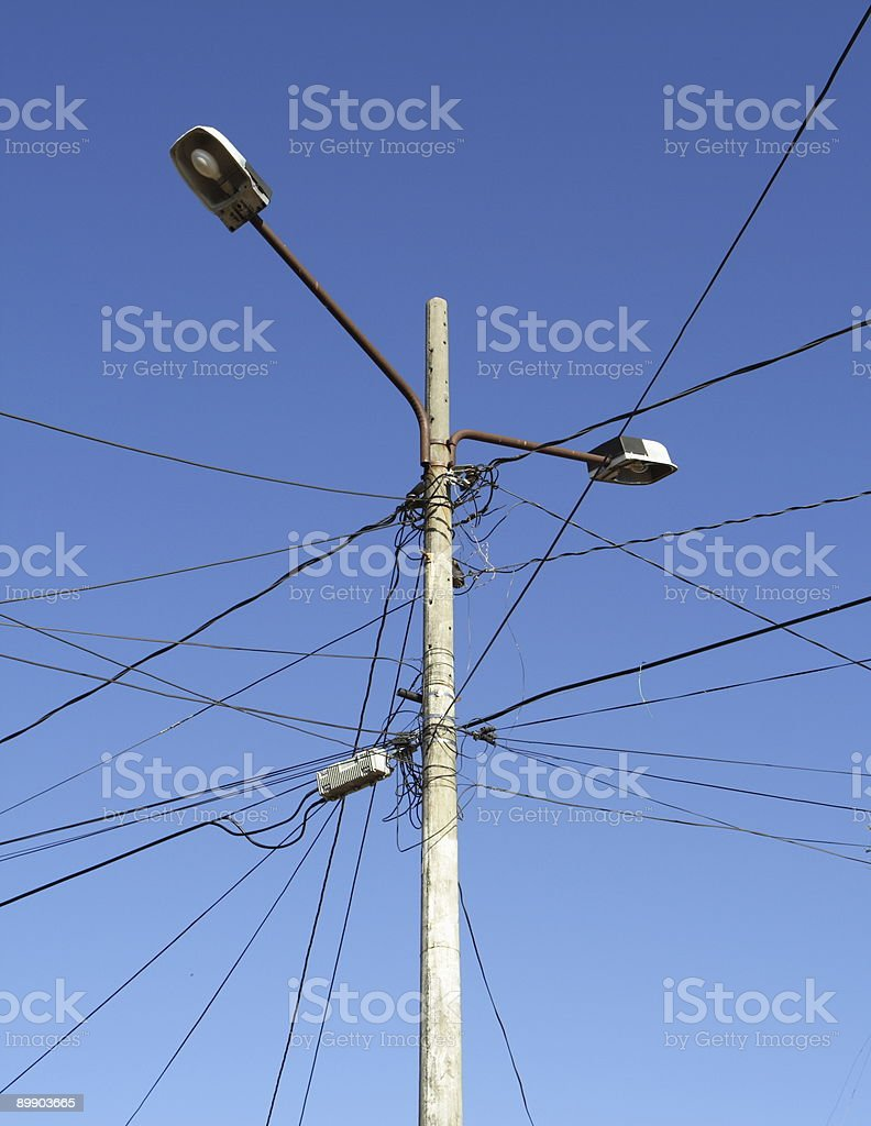 Electrical Hazard royalty-free stock photo