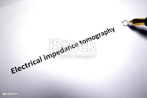Electrical impedance tomography - medical diagnostic procedure referral