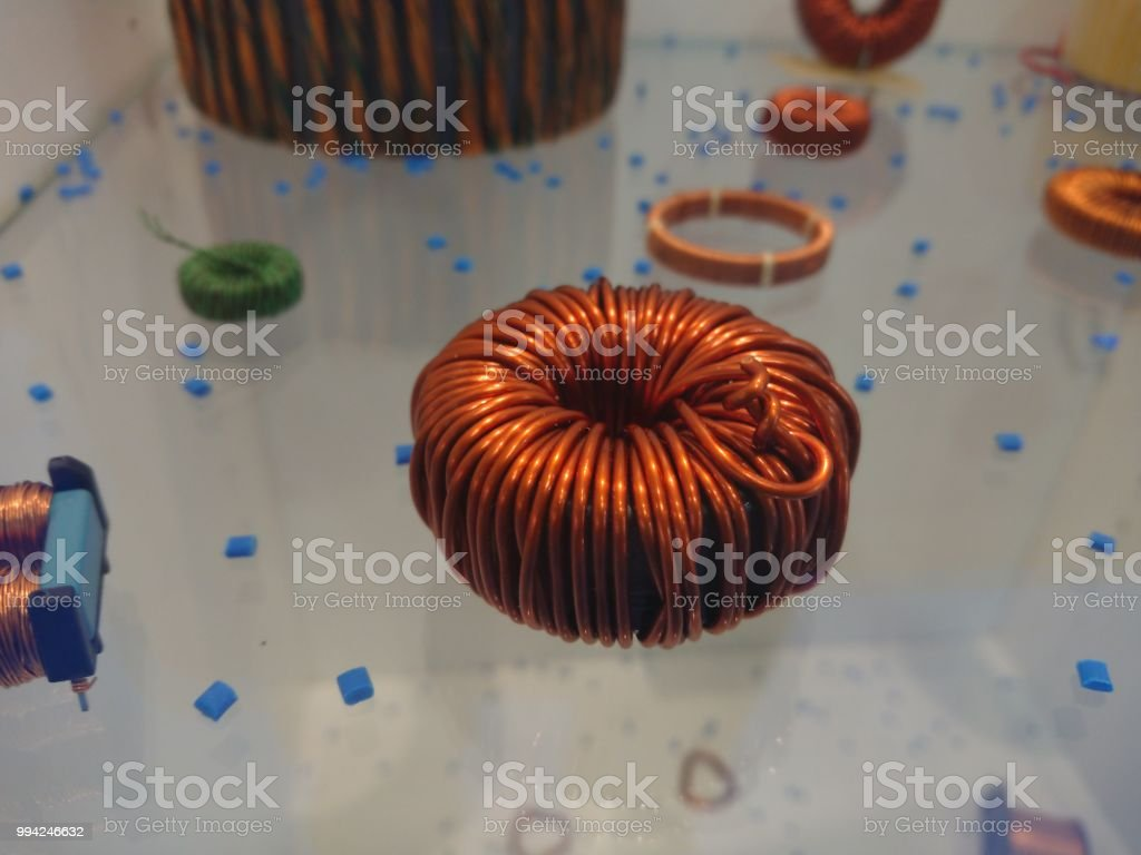 Electrical Inductors Stock Photo More Pictures Of Choking Istock Coils Copper Wire Are Commonly Used In Royalty Free