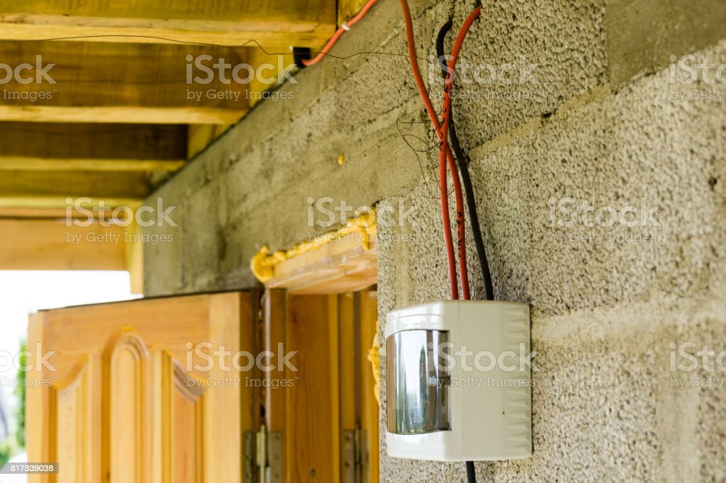 electrical installation box stock photo