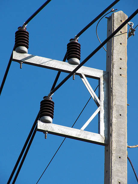 Electrical insulator stock photo