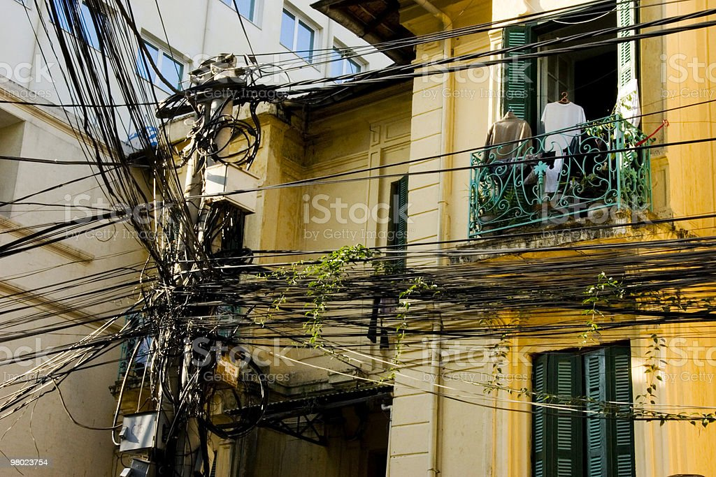 Electrical Lines in Hanoi royalty-free stock photo