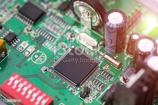 Electrical mainboard Partial close-up