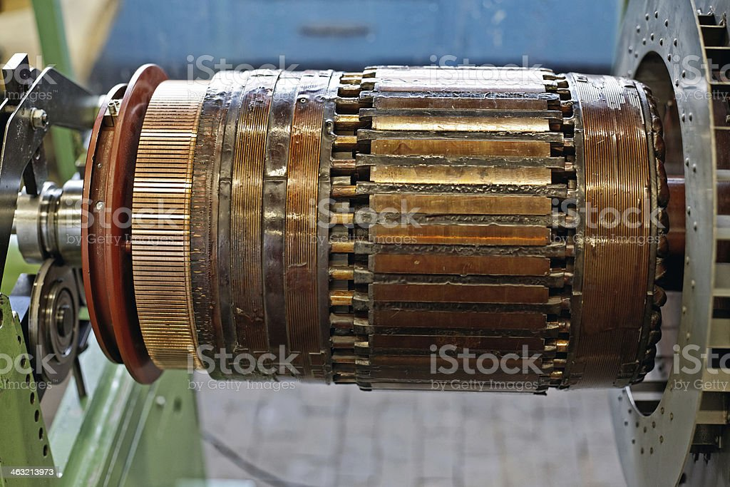 electrical motor stock photo