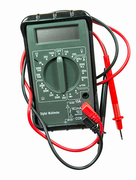 Electrical Multimeter stock photo