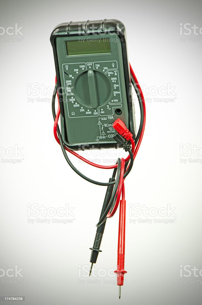 Electrical Multimeter royalty-free stock photo